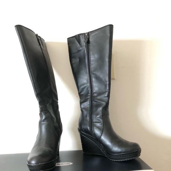 941c3a8c5bb0 Dr. Scholl s black Bellamy wedge boots